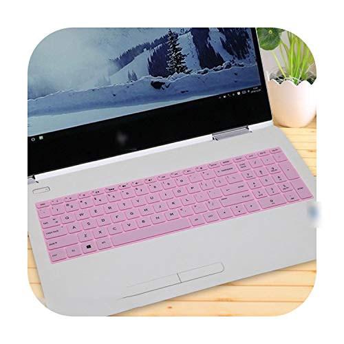 Laptop Keyboard Cover for Hp Envy X360 15M 15M-Bp112Dx Bp111Dx 15M-Bp012Dx 15M-Bq021Dx 15M-Bq121Dx 2017 15 15.6-Pink-