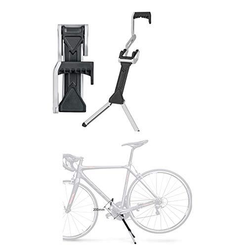 WYJW Estante de reparación de Bicicletas portátil Plegable para portabicicletas para cobertizo de Garaje para Interiores y Exteriores