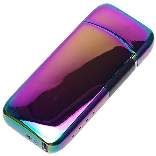 GoodsLand 【 5color 】 充電式 プラズマライター USB充電式 小型 電子ライター コンパクト usbライター スリム アウトドア おしゃれ アークライター GD-NPLITR-YT