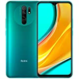 Xiaomi Redmi 9 64GB, 4GB RAM, 6.53' Full HD + AI Quad Camera, LTE Factory Unlocked Smartphone - International Version (Ocean Green)