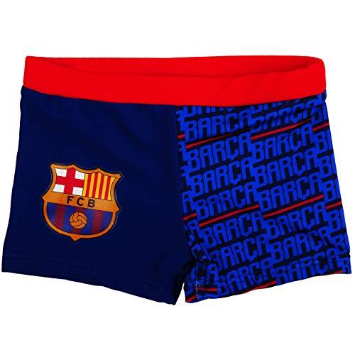 alles-meine.de GmbH Badehose / Badeshorts - Fußball - FC Barcelona - FCB - Größe 10 bis 11 Jahre - Gr. 146 bis 152 - für Jungen Kinder Badepants - Boxershorts Shorts mit Bein - P..