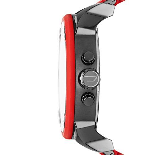 Diesel Homme Analogique Quartz Montre avec Bracelet en Acier Inoxydable et Silicone DZ7370