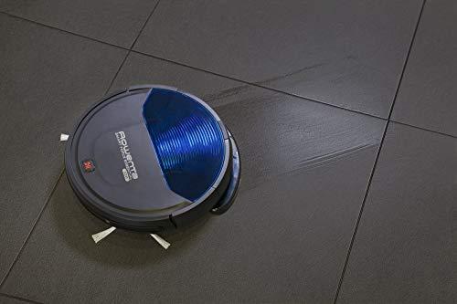 Rowenta RR6971 Smart Force Essential Aqua Saug- und Wischroboter, 2in1 Roboter-Staubsauger mit Wischfunktion, hohe Saugleistung auf allen Böden, bis zu 150 Minuten Laufzeit,  Schwarz/Dunkel blau - 5