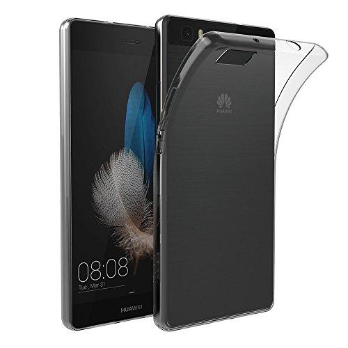 AICEK Huawei P8 Lite Hülle Case, Ultra-Clear P8 Lite Case Silikon Soft TPU Crystal Clear Premium Durchsichtig Handyhülle Schutzhülle Case Backcover Bumper Slimcase für P8 Lite