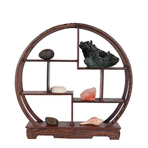 Wifehelper Wandrek, home carving handwerk rek antiek display rek Chinese theepot tentoonstellingsstand ambachtelijke ornamenten bloempot rack bureau decoratie