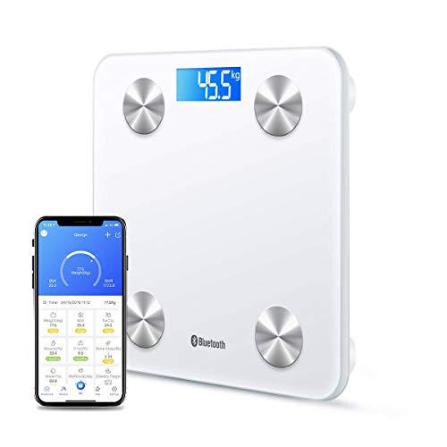 HomeFashion Báscula electrónica Digital para baño, 180 kg, con...