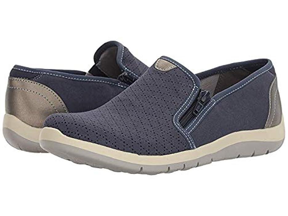 冬無条件モーテル[ARAVON(アラヴォン)] レディースローファー?靴 Wembly Side Zip Blue US 7.5 (24.5cm) WW (EE) [並行輸入品]