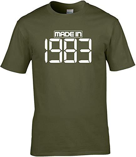 Naughtees clothing Hergestellt in 1983 T-Shirt für Geburtstage, Retirements und Jubiläen - Olivgrün, XL
