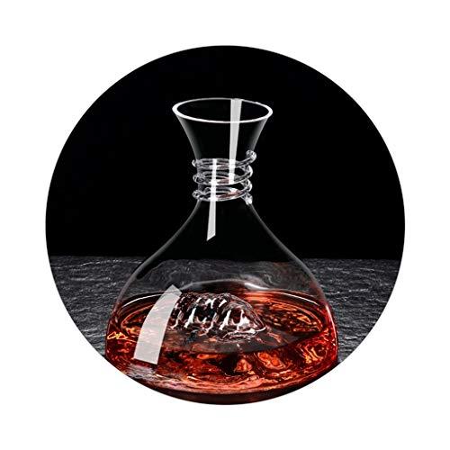 Decantadores De Vino Tinto Iceberg Dispensador De Vino Tinto De Cristal para El Hogar Lujo Rápido De Lujo Ligero (Color : Clear, Size : 24 * 28cm)