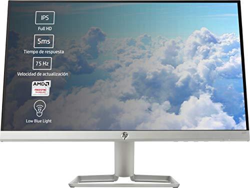 HP 22f - Monitor de 22' (FHD, 1920 x 1080 pixeles, Tiempo de Respuesta de 5 ms, 1 x HDMI, 1 x VGA, 16:9), Negro y blanco
