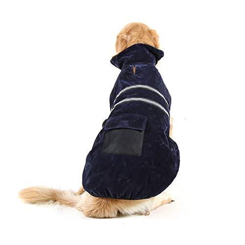 Ropa QYYdog otoño e Invierno Golden Retriever Labrador del Perro casero de Prendas de Vestir de algodón con Cinta reflectora Pijamas, tamaño: M, Busto: los 52-59cm, Cuello: 33-37cm (na