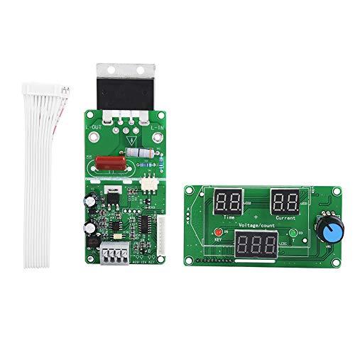 Módulo de control de soldador por puntos, placa controladora de soldador por puntos portátil, liviano para soldadura industrial niquelado(100A)