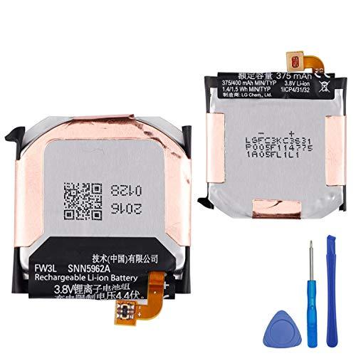 E-yiviil - Batería de repuesto FW3L compatible con reloj inteligente Moto 360 de 2.ª Generación 2015, 46 mm, SNN5962A con herramientas