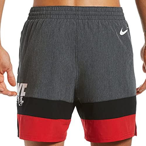 Nike Volley - Costume da Bagno da Uomo, Uomo, Costume da Bagno, NESSB503-001, Nero, M