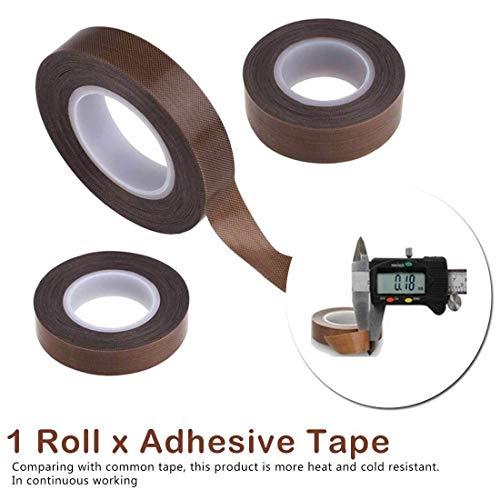 NXCY01 1 PC-Glasfaser-Hochtemperatur Adhesive Tuch Isolierung 300 Grad Vakuumsiegelmaschine for Band Macchina Nastro (Color : 10M, Size : 50MM)