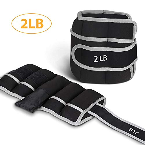 QF Ankle & Wrist Weights 1 Pair, Adjustable Weights Set with Strap of 2lbs, 3.5lbs, 5lbs Per Set for Fitness, Resistance Training, Walking, Jogging, Gymnastics, Aerobics, Workout, Gym, Exercise