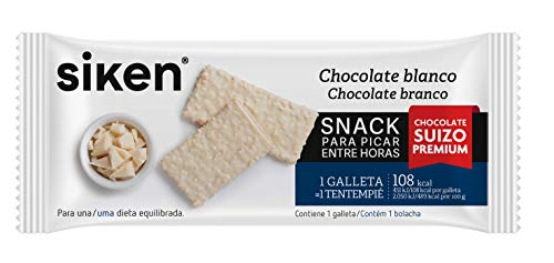 Siken Form snack - Galleta chocolate blanco de 25 mg. 120 Kcal/galleta