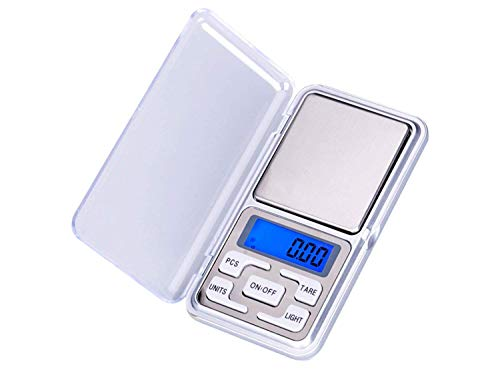 SHRI RAM TOYS Digital Display 0.1 g to 200 g Mini Pocket Weight Scale Measurement Jewellery Weighing Machine (Multicolour)