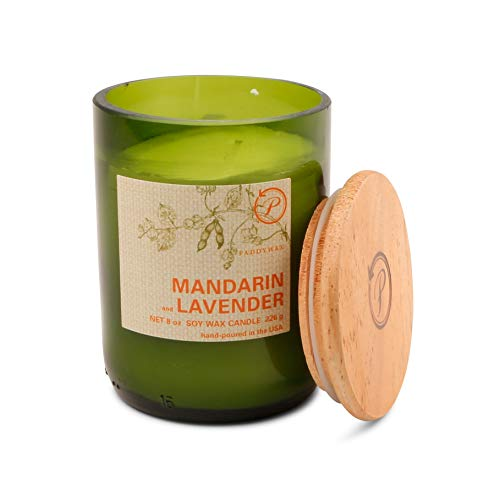 Paddywax Candles Eco Green Collection Scented Candle, 8-Ounce, Mandarin & Lavender