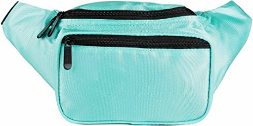 Plain Bum Bag in Many Colours with 3 Compartments