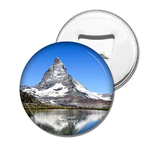 Weekino Schweiz Riffelsee Zermatt Bier Flaschenöffner Kühlschrank Magnet Metall Souvenir Reise Gift
