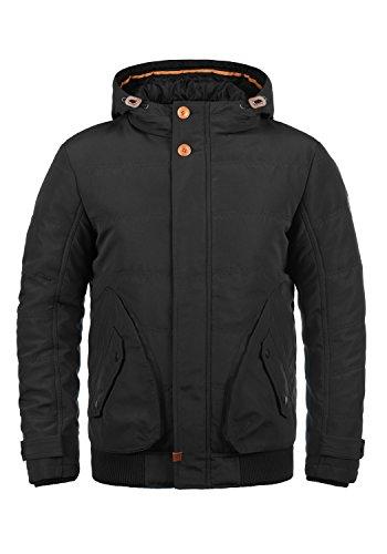 Blend Polyus Herren Übergangsjacke Herrenjacke Jacke mit Kapuze, Größe:L, Farbe:Black (70155)