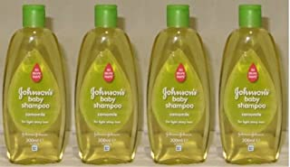 Johnson's Baby Shampoo No More Tears with Chamomile for Light Shiny Hair 10.1 Ounces / 300 Ml (Pack of 4)