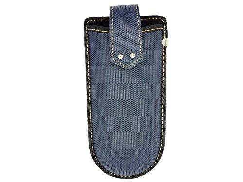 Funda de gafas para el cinturón con clip y correa de velcro azul azul M