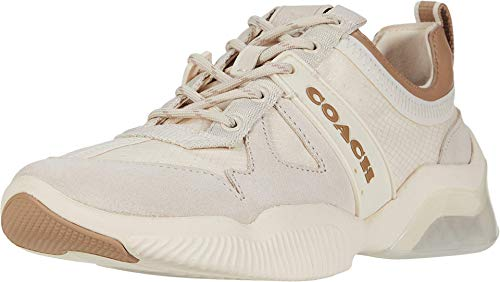 COACH City Sole Runner Chalk/Taupe Mixed Material 8.5