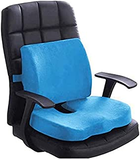 Nature Dream Seat Cushion Coccyx Orthopedic Memory Foam and Lumbar Support Pillow for Office Chair and Car Chair Cushion f...