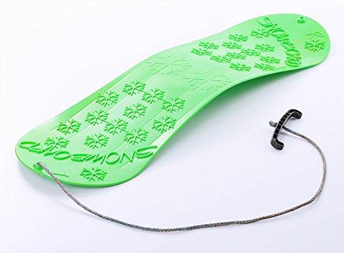 Unbekannt Snowboard Kindersnowboard Schlitten Schneegleiter Schneerutscher inkl. Zugseil 5 Farben (Grün)