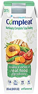 Nestle Healthcare Nutrition Compleat® Modified Tube Feeding Unflavored Food 250ml Can, 265kca, Lactose-free, Gluten-free 24 Ct.