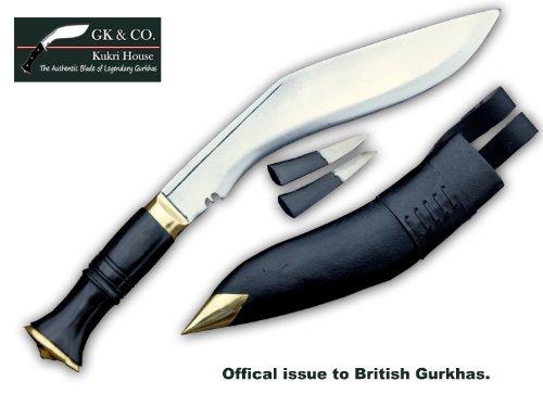GK&CO.KUKRI Offizielle ausgegebenen - echte Gurkha Kukri Messer: 26,5 cm Klingenlänge Dienst-Nr. 1 (Service No.1) hochglanzpoliertem Messer - Handgefertigt Haus im Nepal.