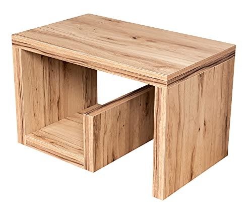 levandeo Couchtisch Gustav Kernbuche B x H x T: 59x37x36cm Holz Beistelltisch Keine Montage Fest verleimt Wohnzimmertisch