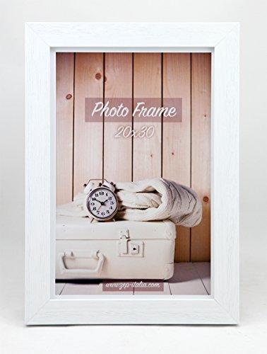 ZEP Nelson 3 fotolijsten, hout, wit, 34,5 x 1,9 x 34,5 cm