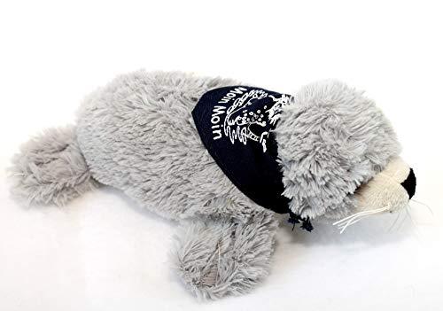 Seehund Robbe FLAPSCH superweiches Plüschtier mit Halstuch Moin Moin (18 cm, Grau)