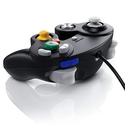 CSL - Nintendo Gamecube Gamepad Controller - Nintendo Wii Wii U Gamepad - Vibrationseffekt - schwarz