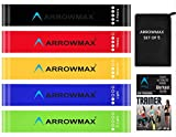 ArrowMax Resistance Loop Toning Bands Levels-Ideal for Home Workout Gym and Outdoor Body