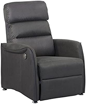 Fauteuil Relaxation Anthracite Idmarket Gris Inclinable gfv76Yby