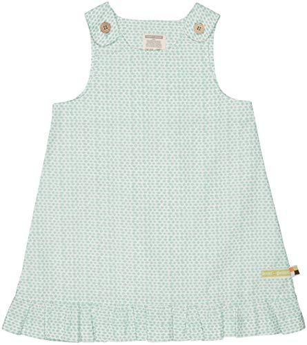 loud + proud Mädchen Gewebtes Kleid mit Druck Kinderkleid, Mint, 74/80