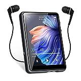 Reproductor MP3 Bluetooth 5.0 MECHEN 2,4 Pulgadas Reproductor MP3 Portátil de Pantalla Táctil, con Grabación en Línea, Radio FM, Altavoz, Soporte hasta 128GB (M3)