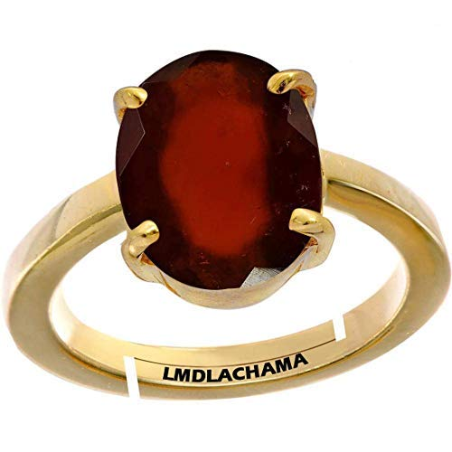 SataanReaper Presents 6.25 Ratti Natural Gemstone Gomed Hessonite Stone Panchdhaatu Adjustable Ring Gold Plated Ring for Man and Women#SR-642