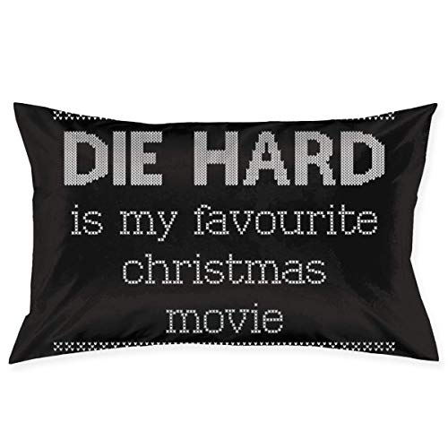yantaiyu Throw Pillow Covers Die Hard Is My Favourite Christmas Movie Knit Pattern Hidden Zipper 40X60Cm Bed Room Standard Gift Home Pillow Cover Decorative Cozy Unique Rectangle Cute Thro