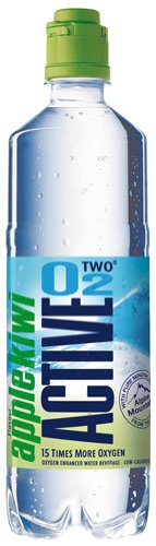 Active O2 Apfel-Kiwi, Sauerstoff-Mineralwasser mit Apfel-Kiwigeschmack, PET - 0.75L - 4x