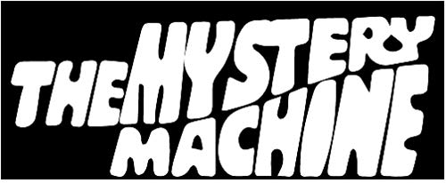 The Mystery Machine Logo Vinyl Stickers Symbol 6' Decorative DIE Cut Decal for Cars Tablets LAPTOPS Skateboard - White