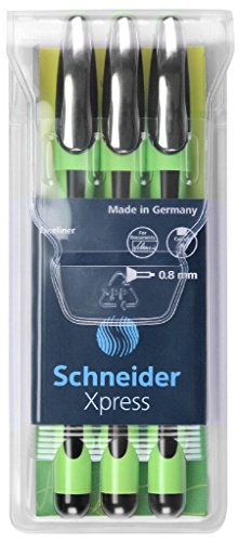 Schneider Xpress Fine Liner 0.8 mm Porous Point Pen 3-Pack, Black (190094)