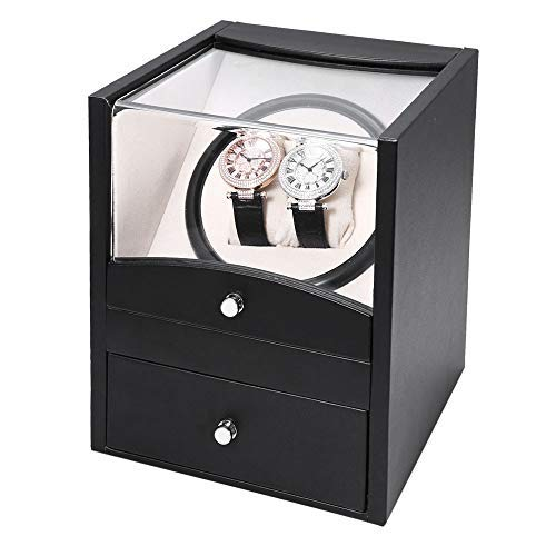 Watch Winder 2 Relojes PU Black