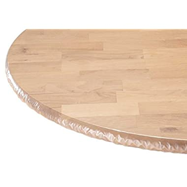 WalterDrake Clear Elasticized Table Cover
