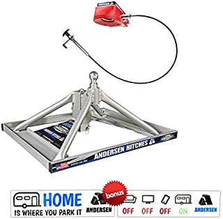 Andersen Hitches 3220 | Aluminum Ultimate 5th Wheel Connection 2 | Gooseneck Version | Weighs Only 35 lbs | ONE Person Install or Removal in Less Than 5 Minutes! | Smooth Ride - More Swivel |
