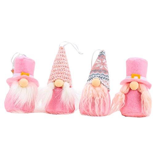 Valentinstag Gnom Plüsch Puppe Elf Dekorationen - 4PCS Nette Schwedische GNOME Gesichtslose Elf Plüsch Spielzeug Weihnachtsfeier Valentinstag Tischschmuck